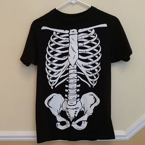 Skeleton Heavyweight Black T-shirt size Small